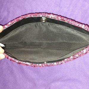 Victoria's Secret Bags - Victoria's Secret Pink Sequin Evening Bag